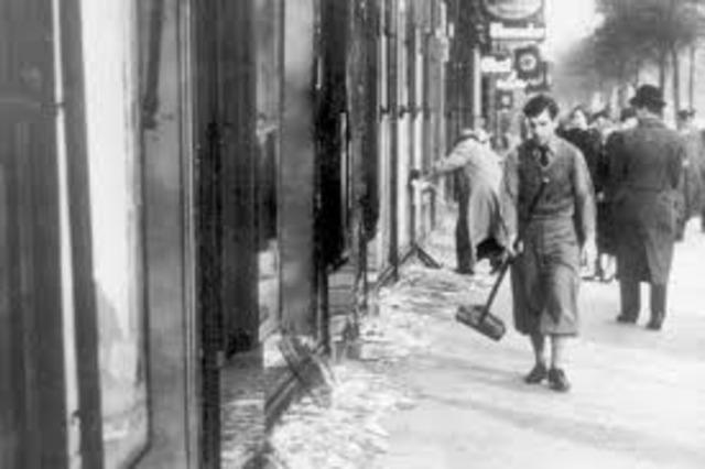 Reichskristallnacht Prgrom November 9-10, 1938
