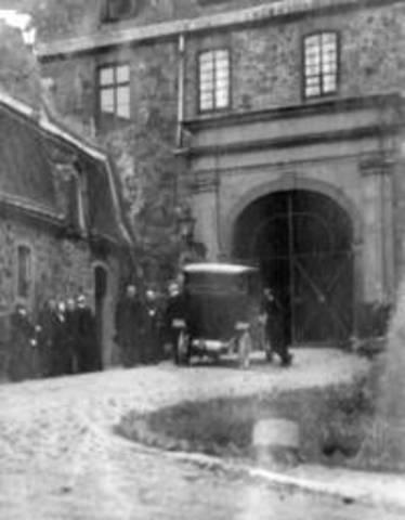 Ankunft und Schlüsselübergabe an Abt Herman Renzel OSB am 02. Juli 1914