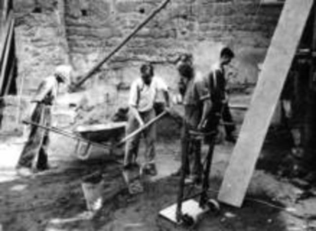 Wiederaufbau der Abtei