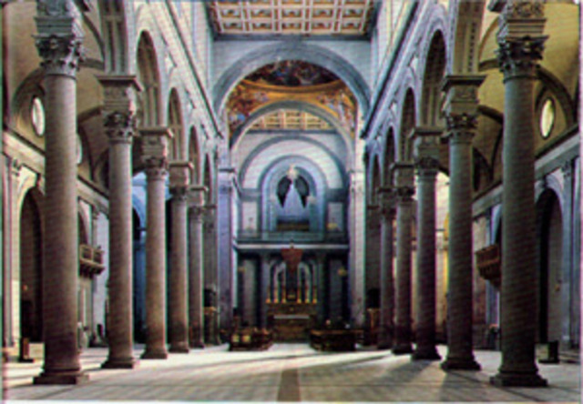 Brunelleschi creates linear perspective