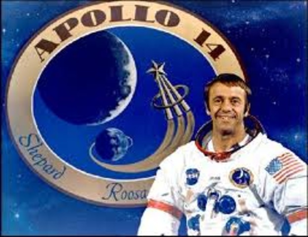 Alan Sheoard becomes the first American man i space