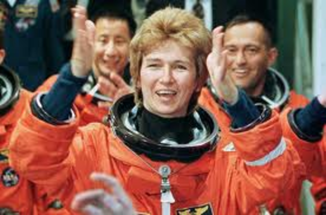 first russian to fly aboard a U.S space shuttle