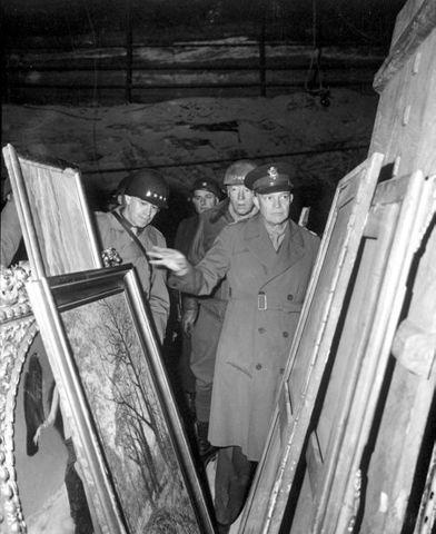 Allies discover stolen Nazi art and wealth hidden in German salt mines.