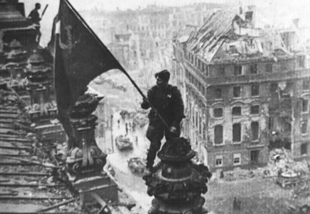 Soviets reach Berlin.