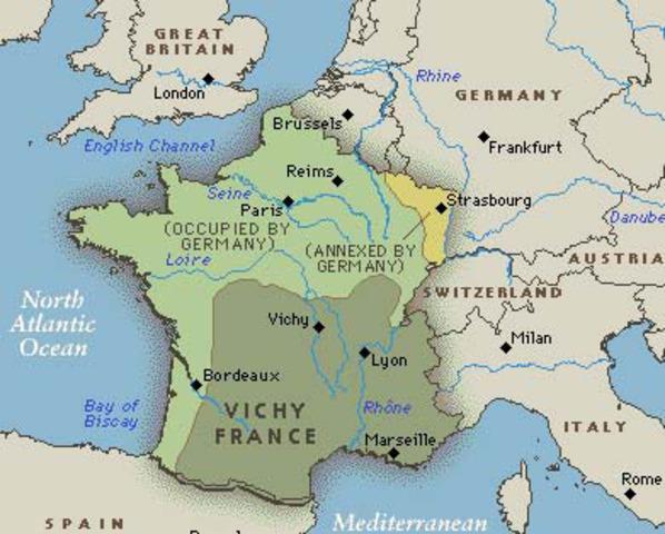 Vichy government established 22 June 1940