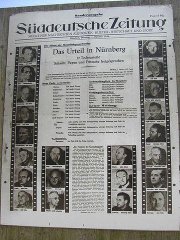 The Nuremberg Trials from November 20 1945 till October 1, 1946