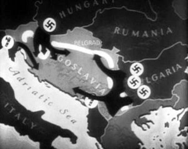 Invasion of Yugoslavia  6 April 1941 - 17 April 1941