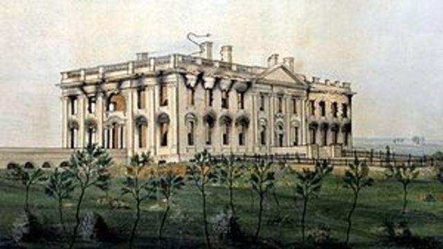 White House Burns Down
