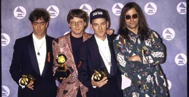R.E.M. wins three Grammy Awards