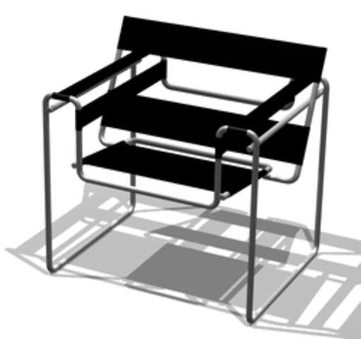 Wassily Chair designed by Breuer