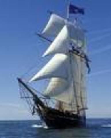 sets sail to france