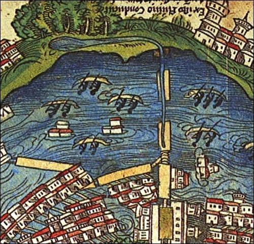 Moctezuma I construyó un acueducto, para conducir a la ciudad de México desde los manantiales de Chapultepec.