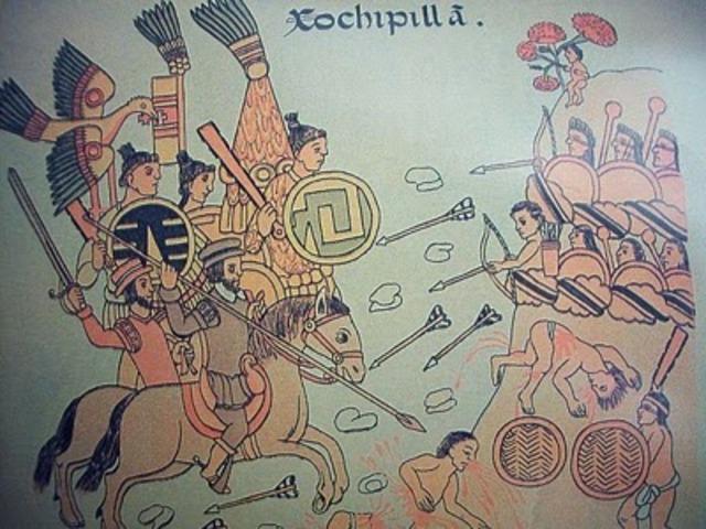 Guerra contra Tlaxcala. Los huexotzingas se refugian en Tenochtitlan. Se restaura el Templo Mayor.