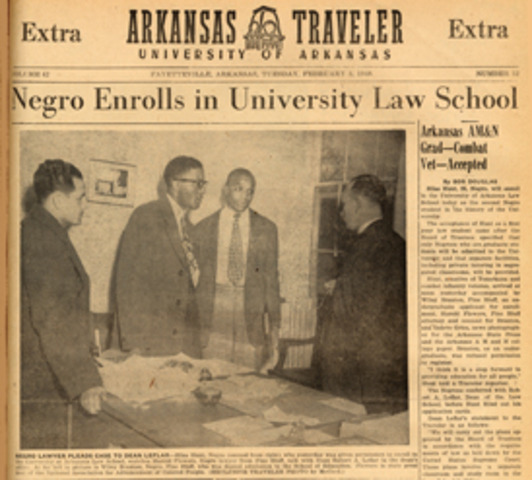 Arkansas admits African Americans to state universities