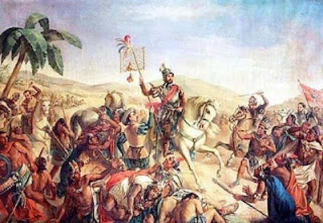 Los españoles llegan a las costas de Veracruz