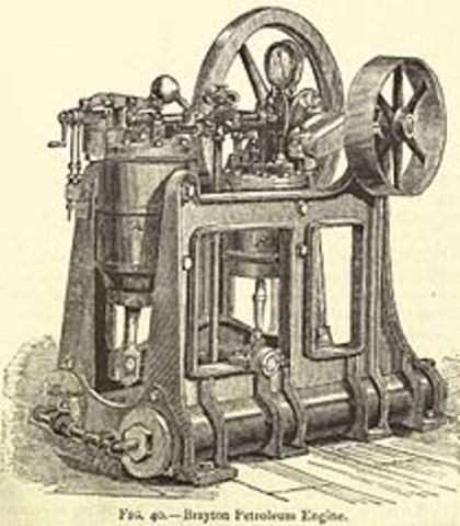 George Brayton invents first practical oil based engine