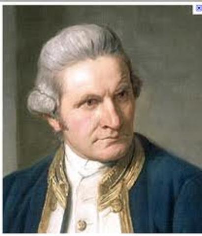 Captain James Cook lands in Botany Bay