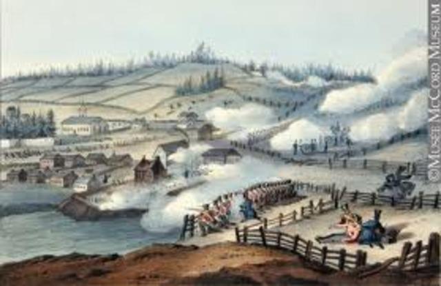 Beginning of Rebellion of 1837 (Lower Canada)