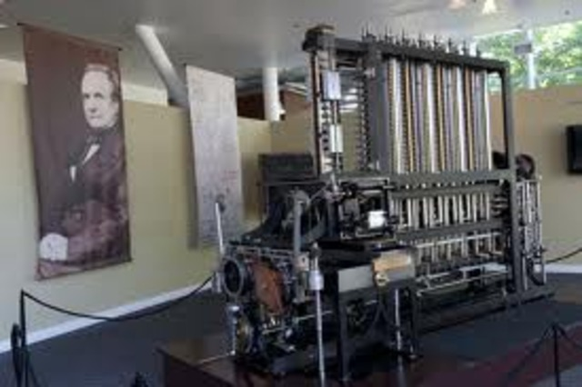 Babbage trabaja en calculadoras mecánicas programables.