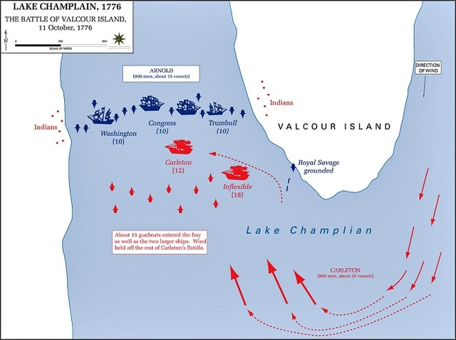 battle of Lake Champlain and Valcour Island