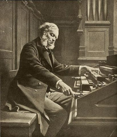 Cesar Franck, Belgian composer, born