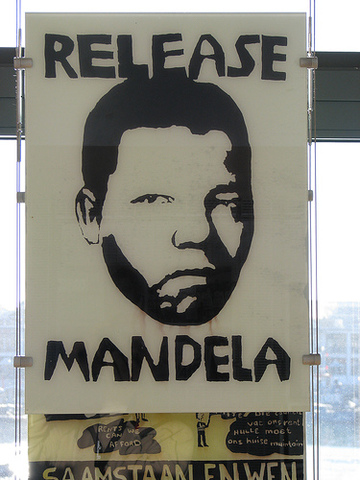 Mandela was convicted and sentenced to life imprisonment on Robben Island Prison.