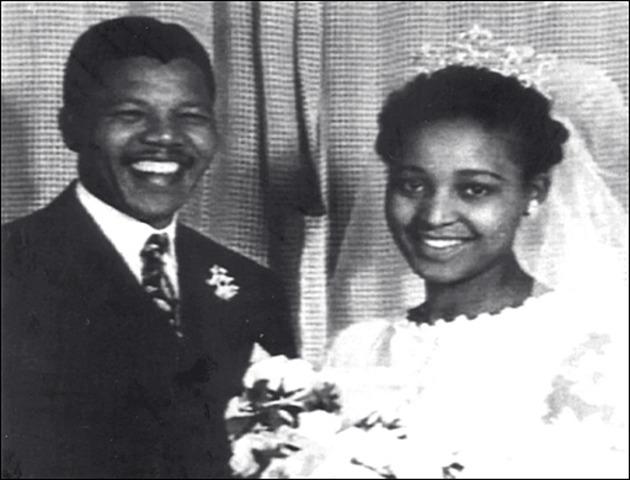 Mandela divorces Evelyn Mase and marries Winnie Madilizela.