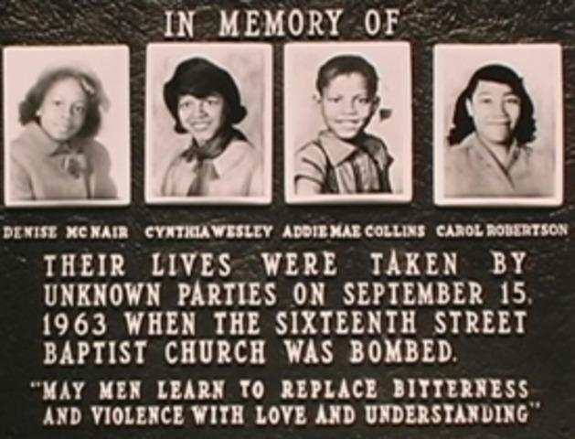 16th Street Baptist Church in Birmingham Bombed
