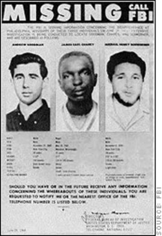 The Murder of Civil Rights Workers James Chaney, Andrew Goodman, and Michael Schwerner