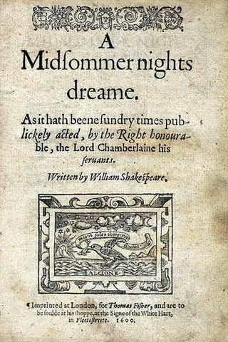 """Mendelssohn: music to Shakespeare's """" A Midsummer Night's Dream """" performed for the first time, Potsdam; Overture 1826"""