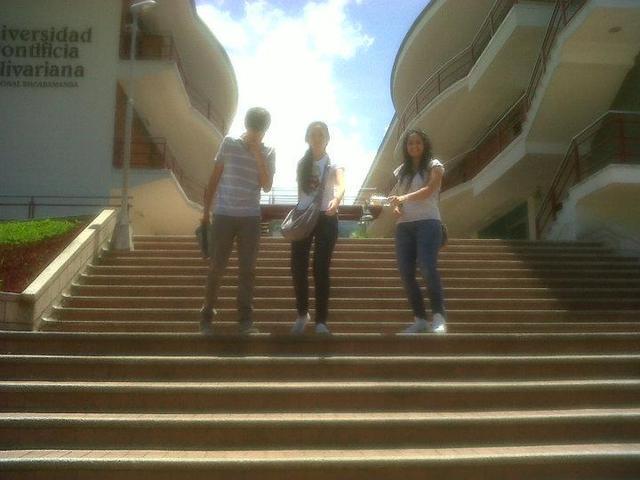 Con mis compañeros de la universidad
