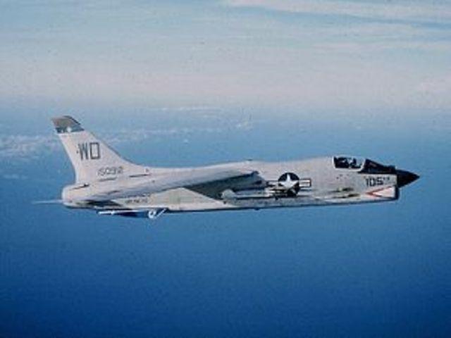 Modified F-8C Flown