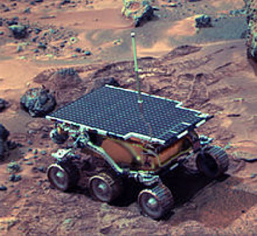 Mars Pathfinder Touches Down