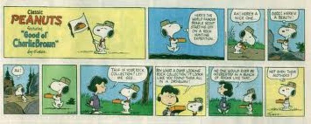 First Peanut cartoon was invented,