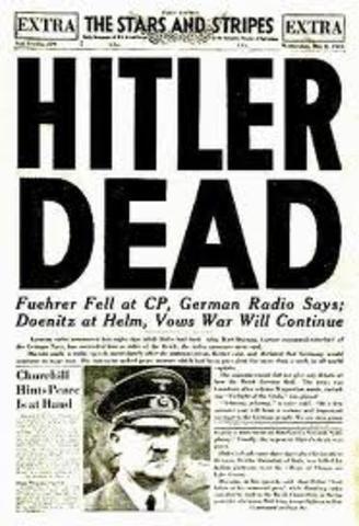 hitler y Goebbels se suicidan