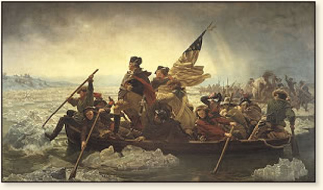 George Washington Crosses the Delaware River