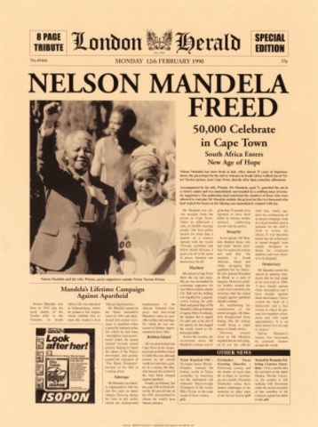 Nelson Mandella is Released From Prison