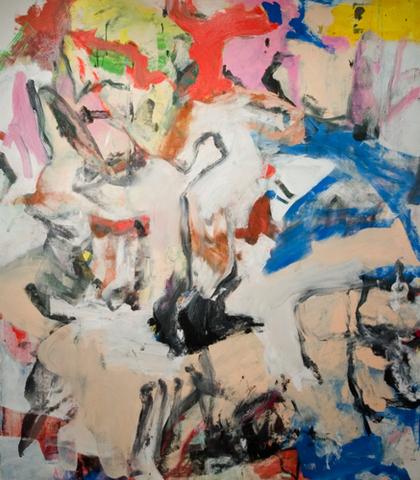 "de Kooning painted ""Untitled"" Oil on Paper"