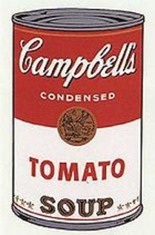 "Warhol created ""Campbell Soup"" screenprint"