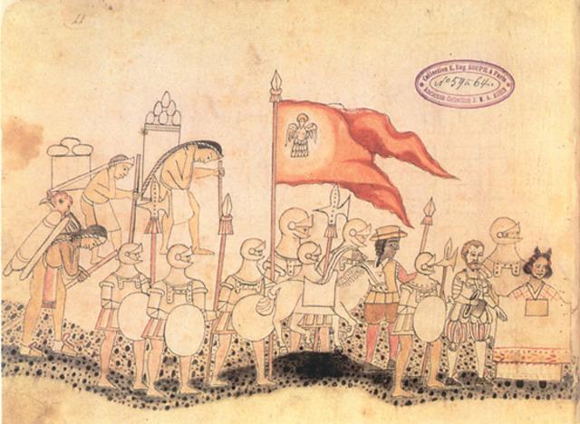 Españoles e indigenas hacen alianzas