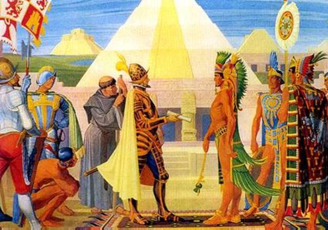 LLegada de los españoles a Tenochtitlan