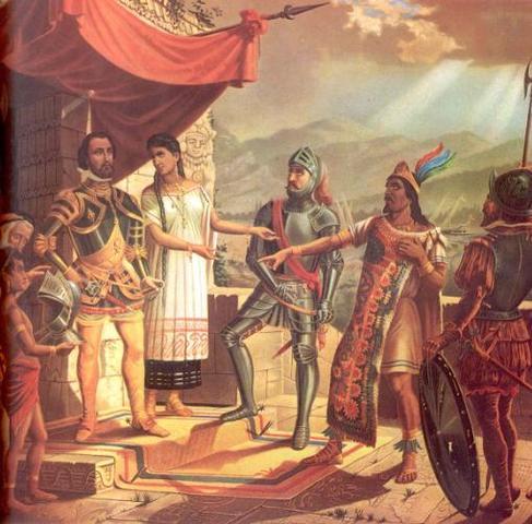 Cortes es invitado a quedarse en Tenochtitlan