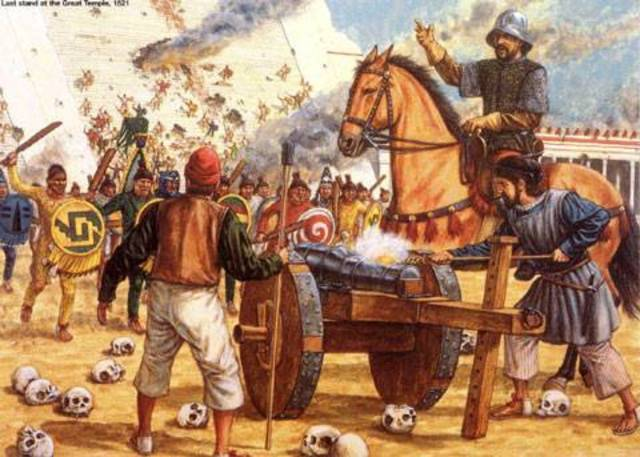 Comienza la guerra entre los españoles y los aztecas
