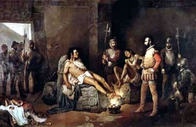 Cortes captura a Cuahutemoc