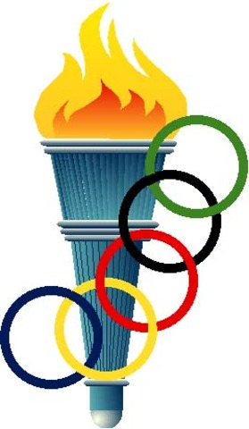 First Olympic Torch Lit