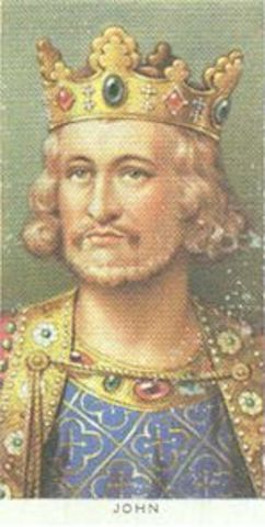 John reigns King of England