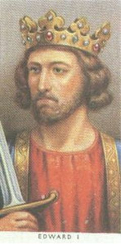 Edward I reigns King of England