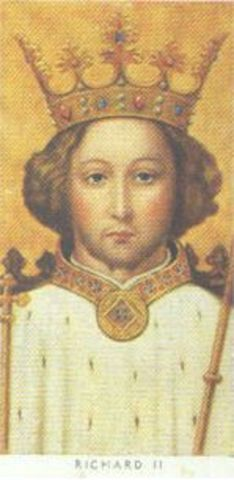 Richard II reigns King of England