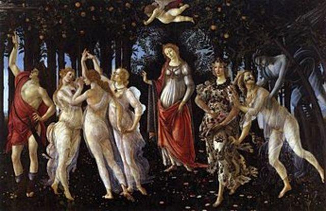 Botticelli paints Primavera