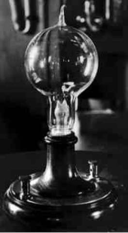 Edison invents the lightbulb